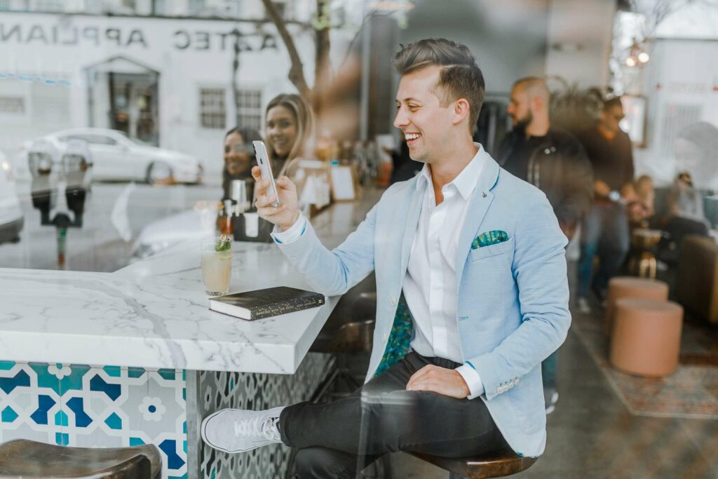 What is a persona in Digital Marketing? Man at restaurant bar