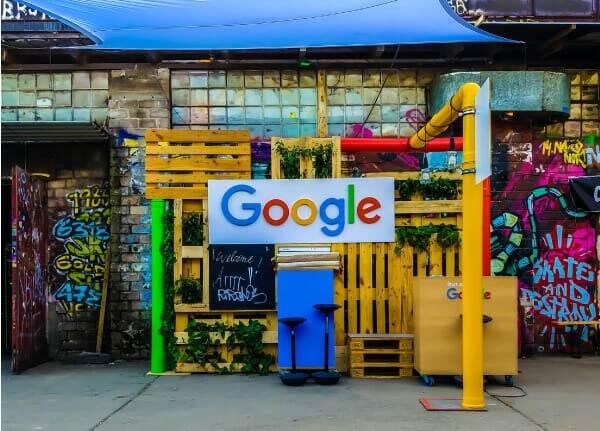 Image of Google on Shop store Link Building