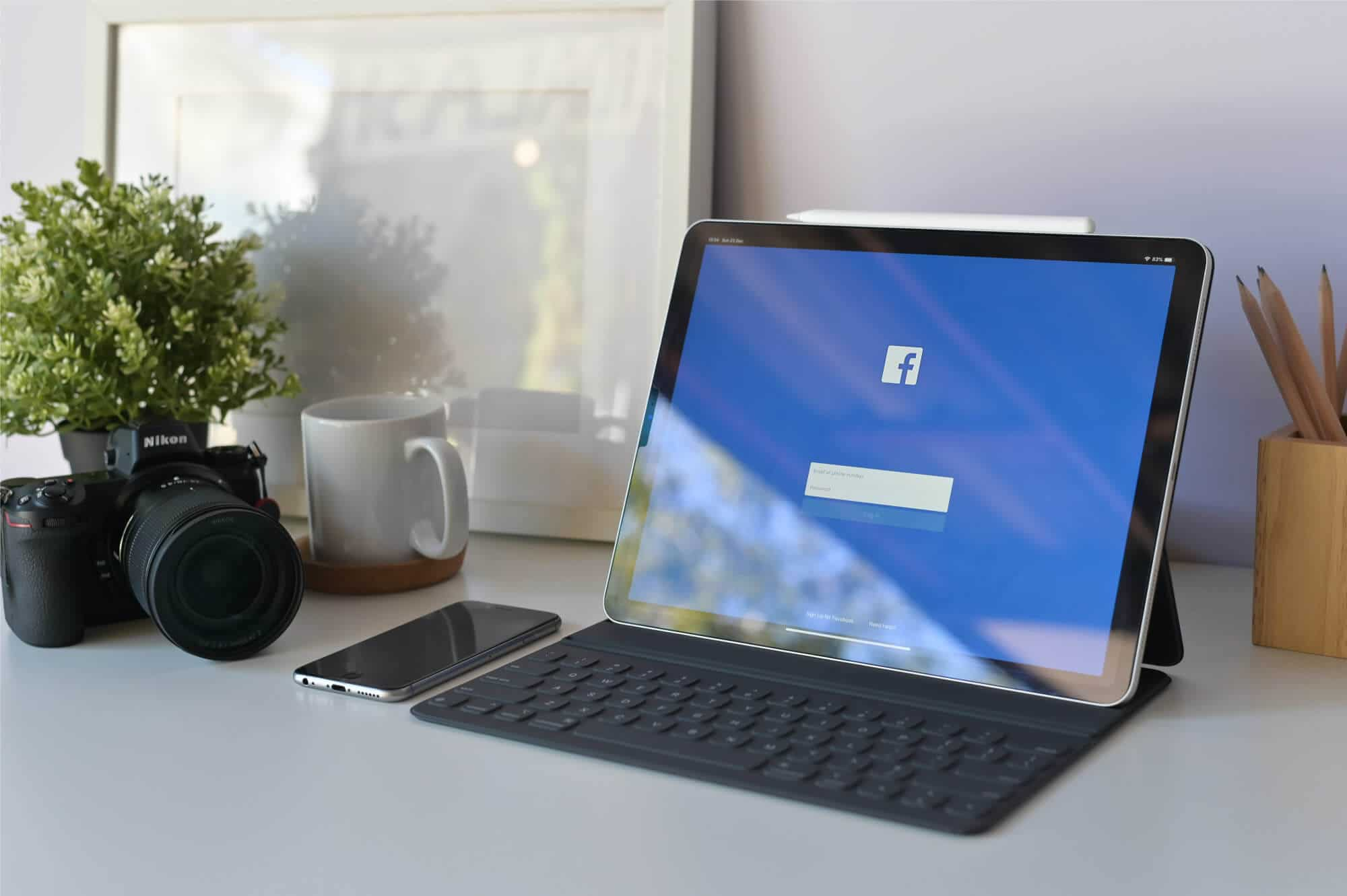 Facebook-Marketing-Agency-in-Cheshire---Atomic-Digital-Marketing - iPad with Facebook on Screen