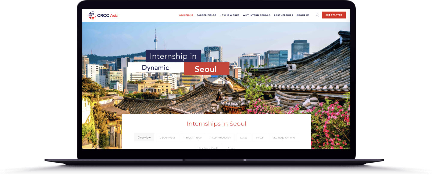 CRCc Asia Web Design - Internships in Seoul