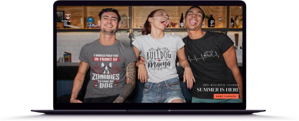 The Bull Dog Hut, California, USA Website Design
