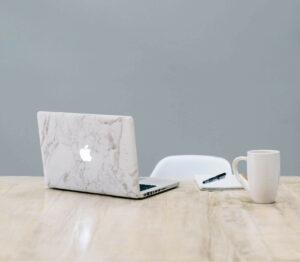 SEO Audit on Laptop on Desk