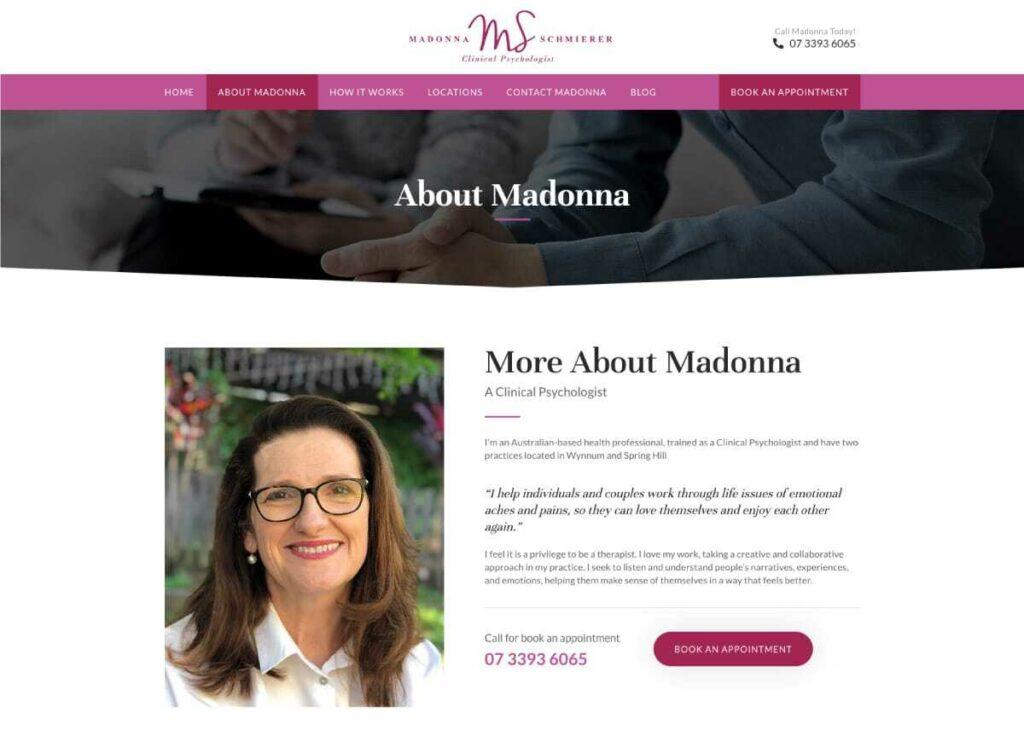 Madonna Schmierer Bio