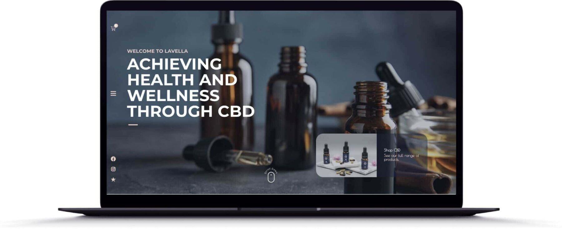 Lavella CBD Homepage