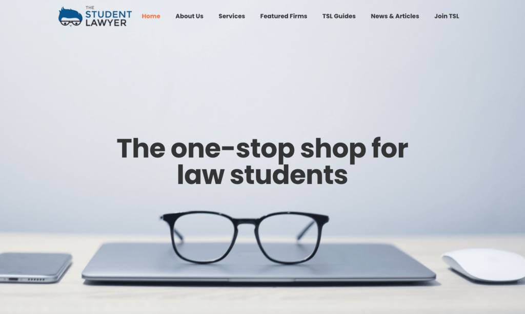 TSL Homepage Screenshot