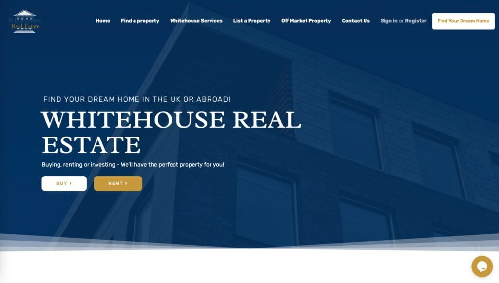 Whitehouse cast study home screenshot