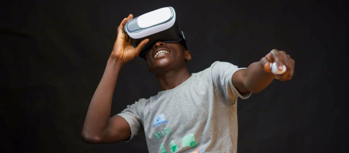 VR in Marketing - Man wearing VR Headset